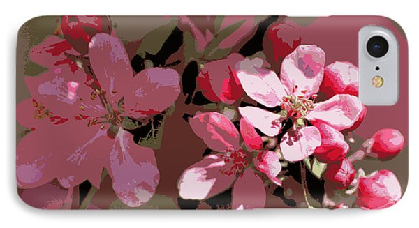 Flowering Crabapple Posterized IPhone Case