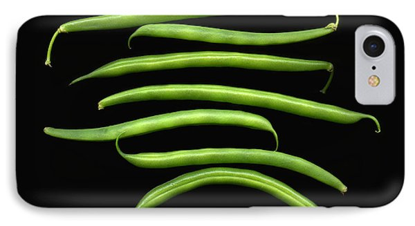 Fresh Produce. A Row Of Green Beans IPhone Case