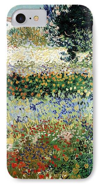 Garden iPhone 8 Case - Garden In Bloom by Vincent Van Gogh