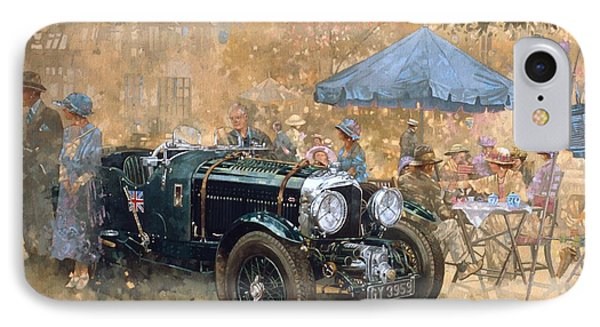 Car iPhone 8 Case - Garden Party With The Bentley by Peter Miller