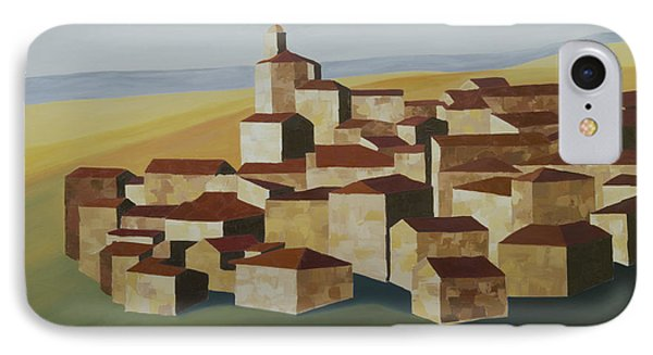 Geometric Village Spain IPhone Case