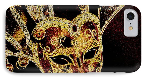 Golden Mask IPhone Case