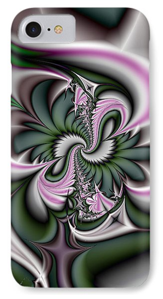 Green And Pink Fractal IPhone Case