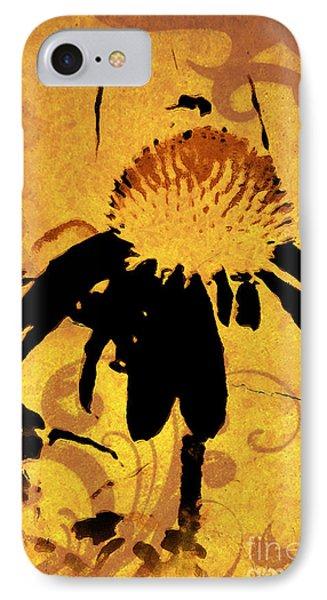 Grunge  Daisy Art IPhone Case