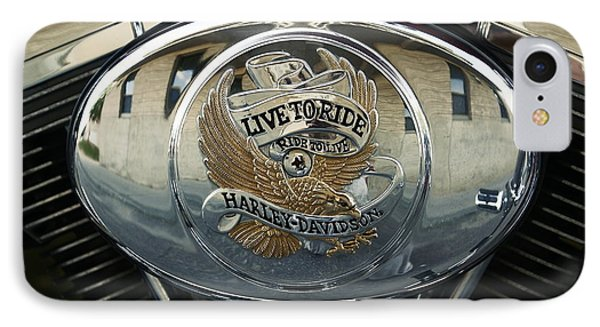 Harley Davidson Bike - Chrome Parts 44c IPhone Case