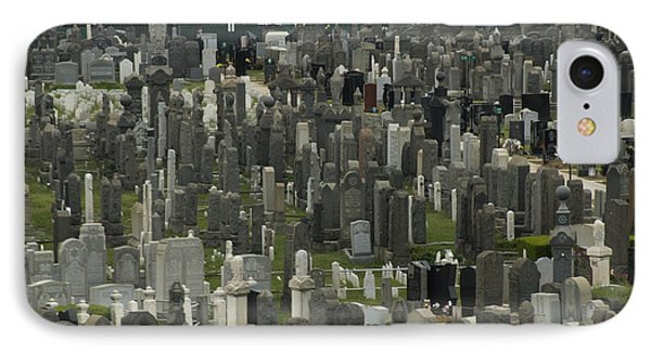 High Angle View Of A Cemetary IPhone Case