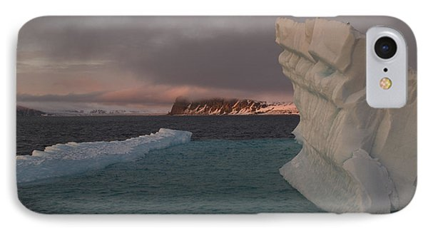 Ice Formations Float In Blue Water IPhone Case