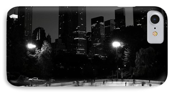 Ice Skating In Central Park IPhone Case