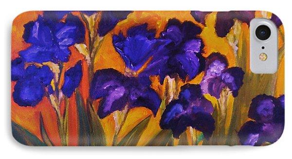 Irises In Motion IPhone Case