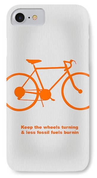 Bicycle iPhone 8 Case - Keep The Wheels Turning by Naxart Studio