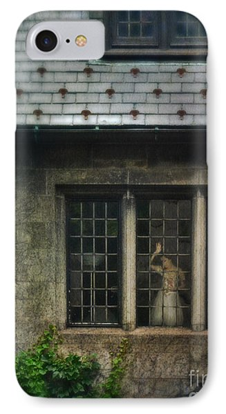 Lady By Window Of Tudor Mansion IPhone Case