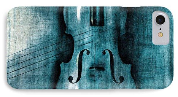 Violin iPhone 8 Case - Le Violon Bleu by Hakon Soreide