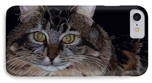 Little Girl - Maine Coon Cat Painting IPhone Case