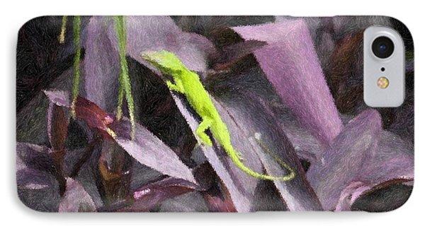 Little Green Lizard IPhone Case