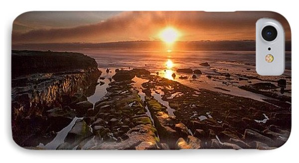iPhone 8 Case - Long Exposure Sunset In La Jolla by Larry Marshall