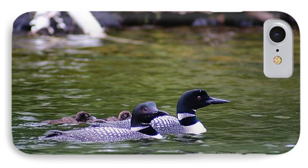Loons With Twins 4 IPhone Case