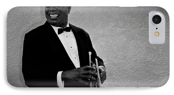 Trumpet iPhone 8 Case - Louis Armstrong Bw by David Dehner