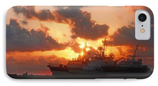 Louisiana Sunset In Port Fourchon IPhone Case