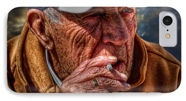 Man Smoking IPhone Case
