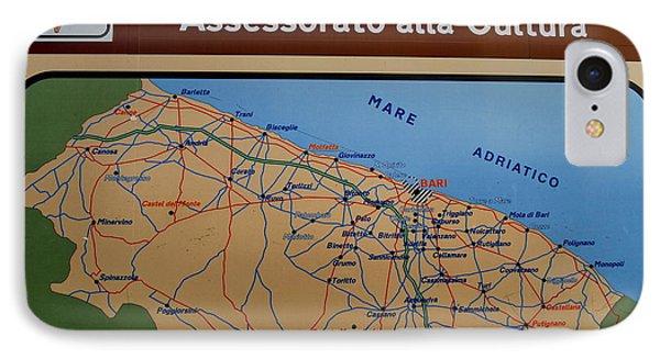 Map Of Bari Italy IPhone Case