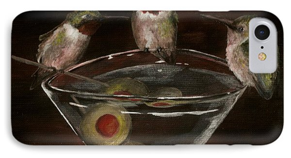 Martini For The Birds Revisited IPhone Case