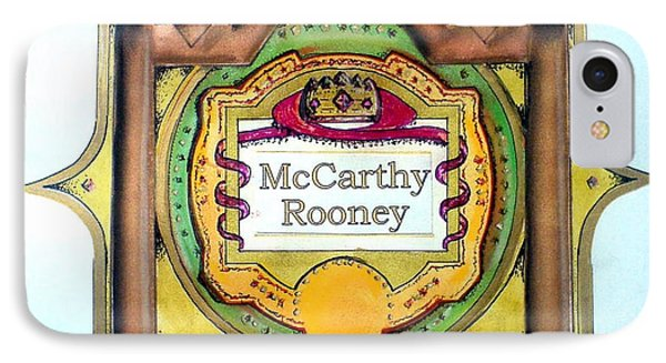 Mccarthy-rooney Family Crest IPhone Case