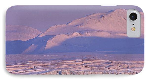 Midnight Sunlight On Polar Mountains IPhone Case