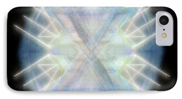 Mirror Emergence IIi Blue Green Teal IPhone Case