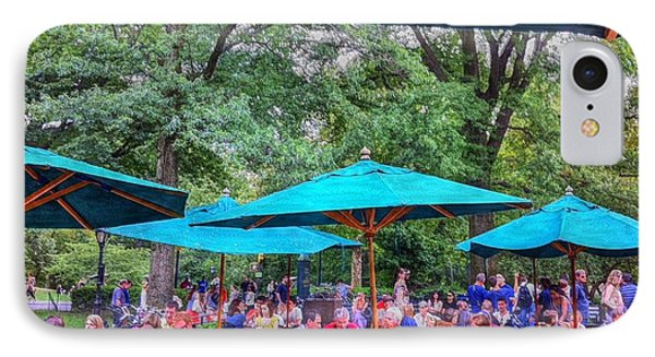 Modern Boating Party Crowd At Central Park In New York City IPhone Case