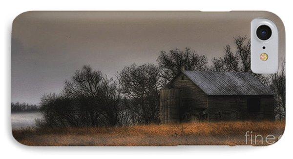 Morning Fog At Jorgens Barn IPhone Case