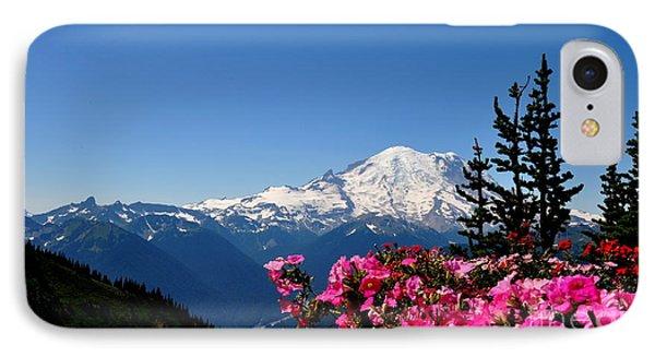 Mount Rainier Seen From Crystal Mountain Summit  2 IPhone Case
