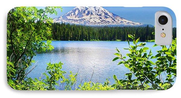 Mt Adams And Takhlakh Lake IPhone Case
