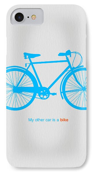 Bicycle iPhone 8 Case - My Other Car Is A Bike  by Naxart Studio