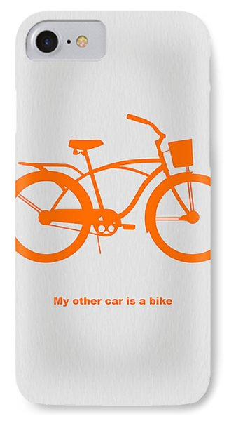 Bicycle iPhone 8 Case - My Other Car Is Bike by Naxart Studio