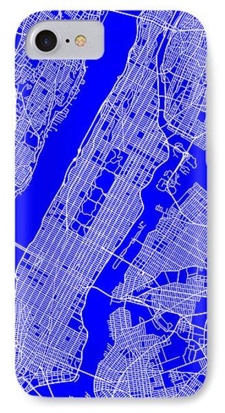 New York City Map Streets Art Print   IPhone Case