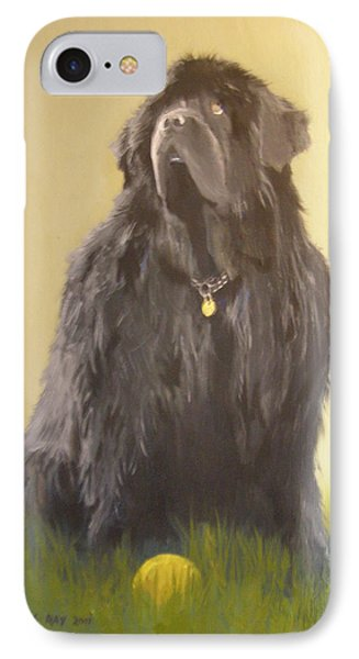 Newfoundland With Ball IPhone Case