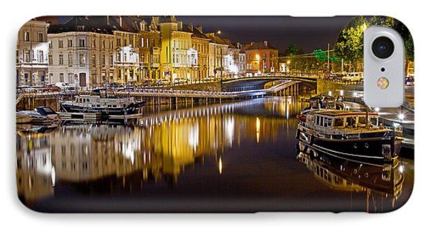 Nighttime Along The River Leie IPhone Case