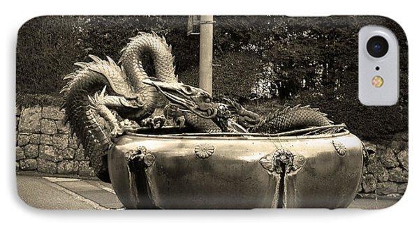 Dragon iPhone 8 Case - Nikko Fountain by Naxart Studio