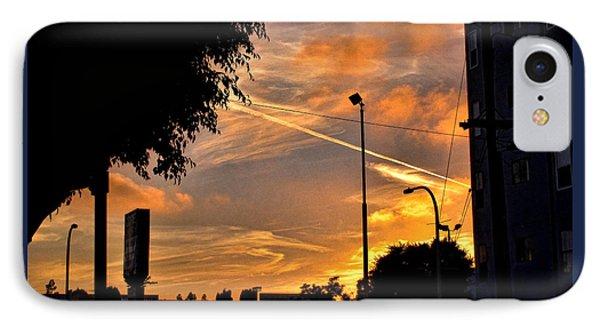 October Sunset 6 IPhone Case