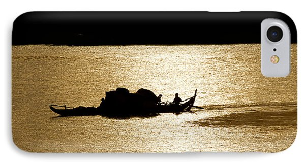 On Golden Waters IPhone Case