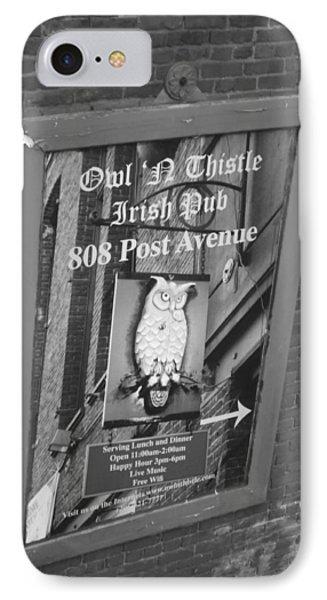 Owl And Thistle Irish Pub IPhone Case