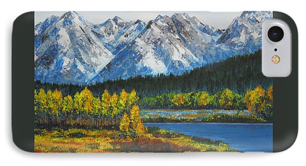 Oxbow-grand Tetons  IPhone Case