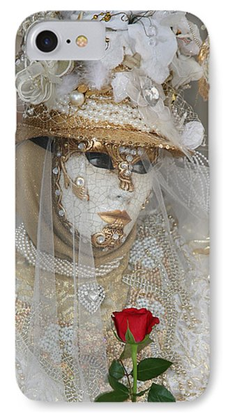 Pearl Bride With Rose 2 IPhone Case