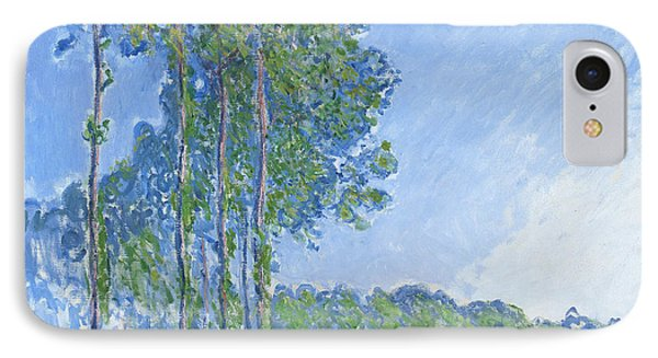 Impressionism iPhone 8 Case - Poplars by Claude Monet