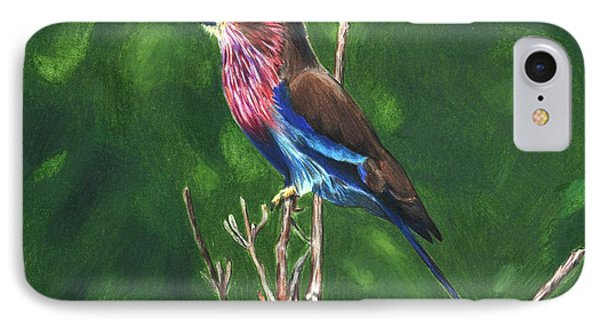 Purple And Blue Bird IPhone Case