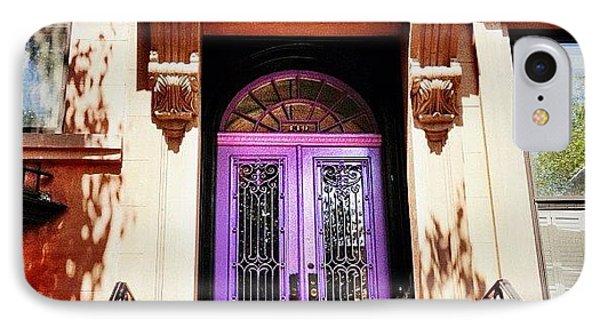 Purple Door - Brooklyn - New York City IPhone Case