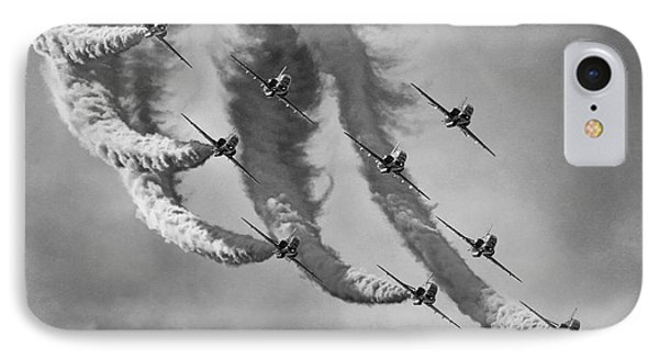 Red Arrows Black And White IPhone Case