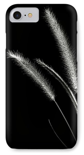 Red Fountain Grass In Black And White IPhone Case