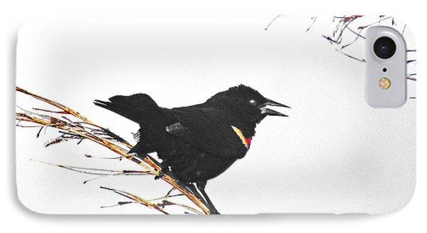 Red Winged Blackbird IPhone Case