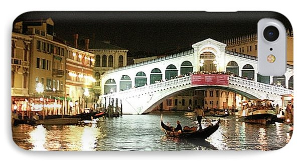 Rialto Bridge Night Scene IPhone Case
